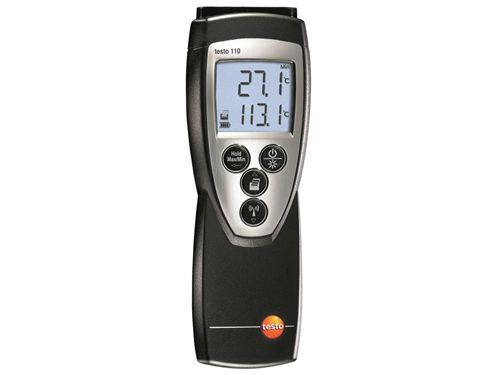 Testo 110 digital temperature measuring instrument (1-channel)
