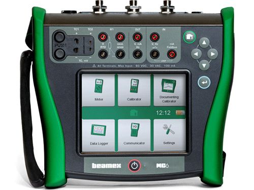 Beamex MC6 high-accuracy field calibrator and communicator.