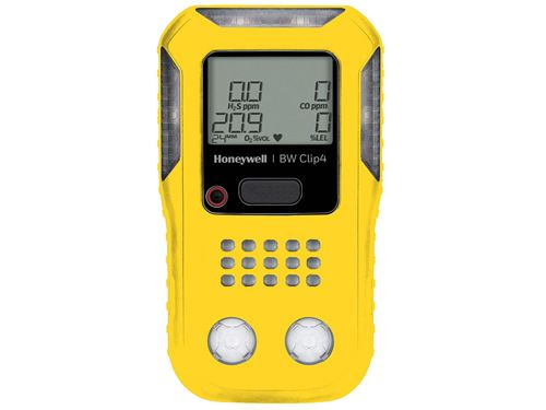 Honeywell BW BWC4-Y-R Clip4 multi-gas detector, yellow housing